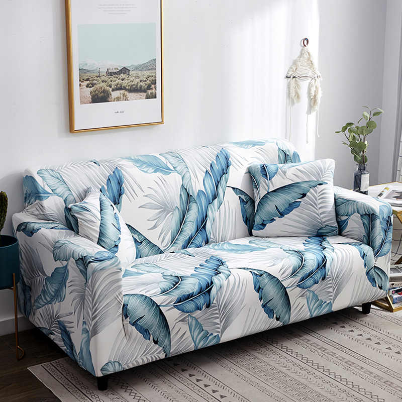 Printed leaf pattern Sofa Cover Slipcover Sofa for sofa towel Living Room Furniture Protective Armchair couches sofa 1/2/3/4