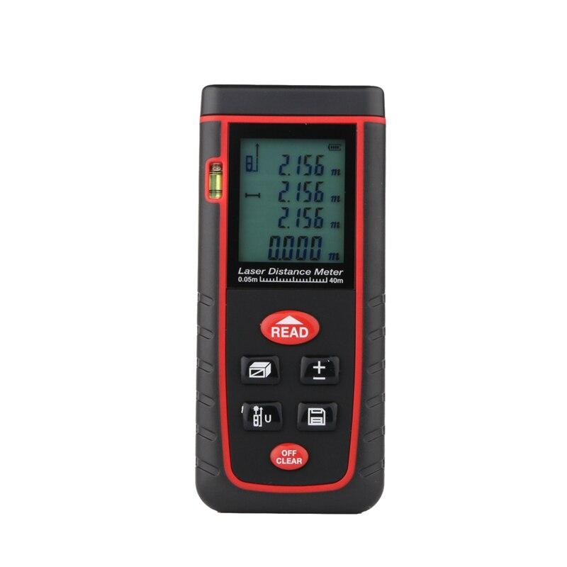40 m LCD de mano telémetro láser telemetre durable medidor de distancia láser con nivel de burbuja distancia volumen medida Herramientas