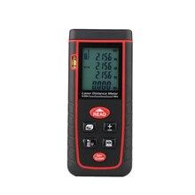 Promo offer 40M Handheld LCD Laser Rangefinder Telemetre Durable Laser Distance Meter With Level Bubble Distance Area Volume Measure Tools