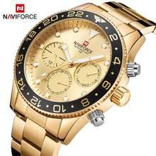 84a7a3e4e3d NAVIFORCE hombres reloj analógico de cuarzo de lujo fecha Semana de deporte  de moda 3ATM impermeable reloj de pulsera hombre rel.