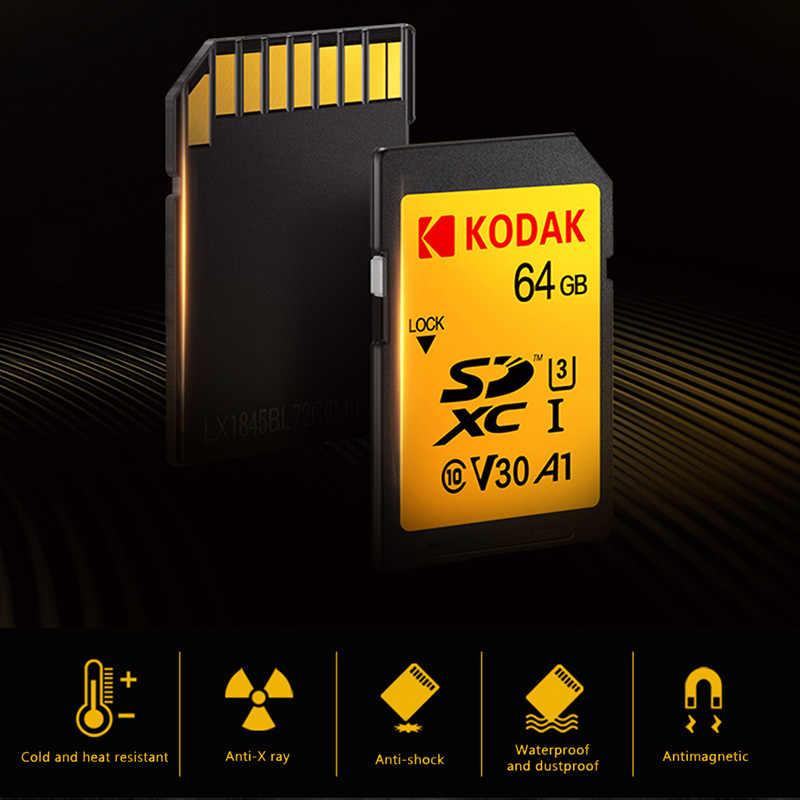 Kodak sd-kaart 64GB geheugenkaart 128gb SDXC U3/U1 V30/V90 carte sd voor Sony canon Nikon micro SLR digitale camera cartao de memoria