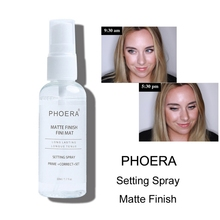50ML Makeup Setting Spray Matte Finish Bottle Oil-control Natural Long Lasting Make Up Fix Foundation