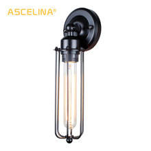 Lámpara de pared de Estilo Vintage para Loft, lámpara de pared Industrial Edison para Hotel, cafetería, restaurante, decoración del hogar, iluminación de hierro, lámparas de pared pequeñas