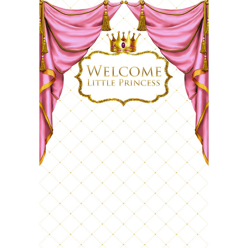 Photography backdrops Princess Baby Shower Photo Backdrop for Photography Step Repeat Background Crown Customize G-420