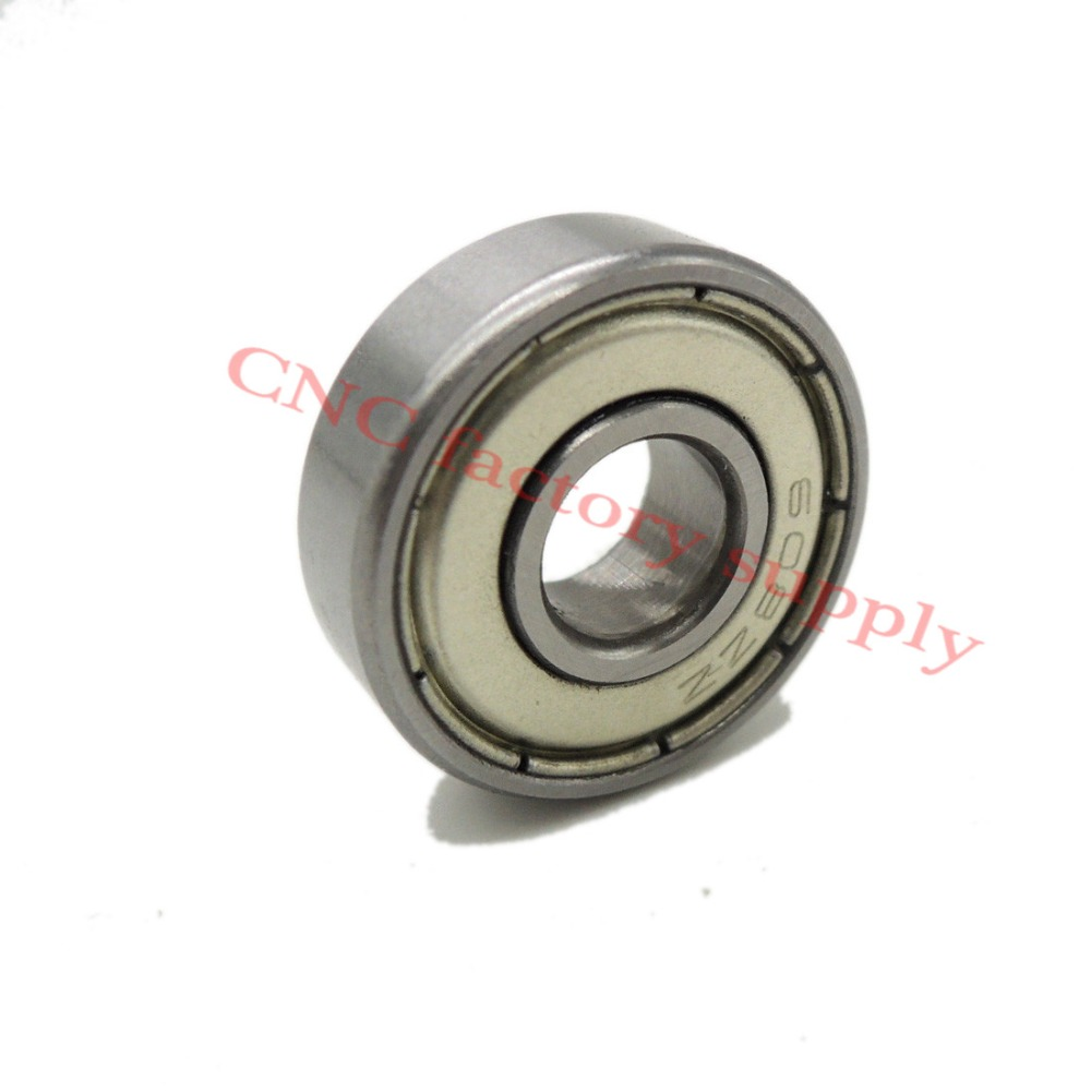 10Pcs Free Delivery 608Zz 8X22X7Mm Miniature Deep Groove Ball Bearing 8*22*7Mm