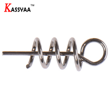 KASSYAA 10pc 50pc 100pc 14mm Fishing Pin Spiral Bait Steel Spring Pins of Fising lure Accessories KXY052