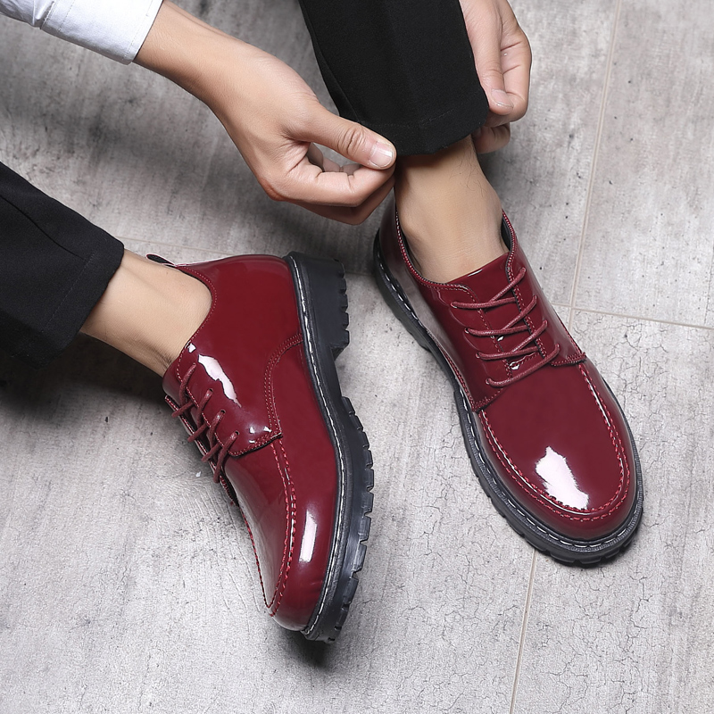 f56cda80f4 Aliexpress.com : Buy Yomior Men Casual Shoes Round Toe Breathable Formal  Dress Shoes Outdoor Work Leather Shoes Party Wedding Red Black Oxfords from  ...