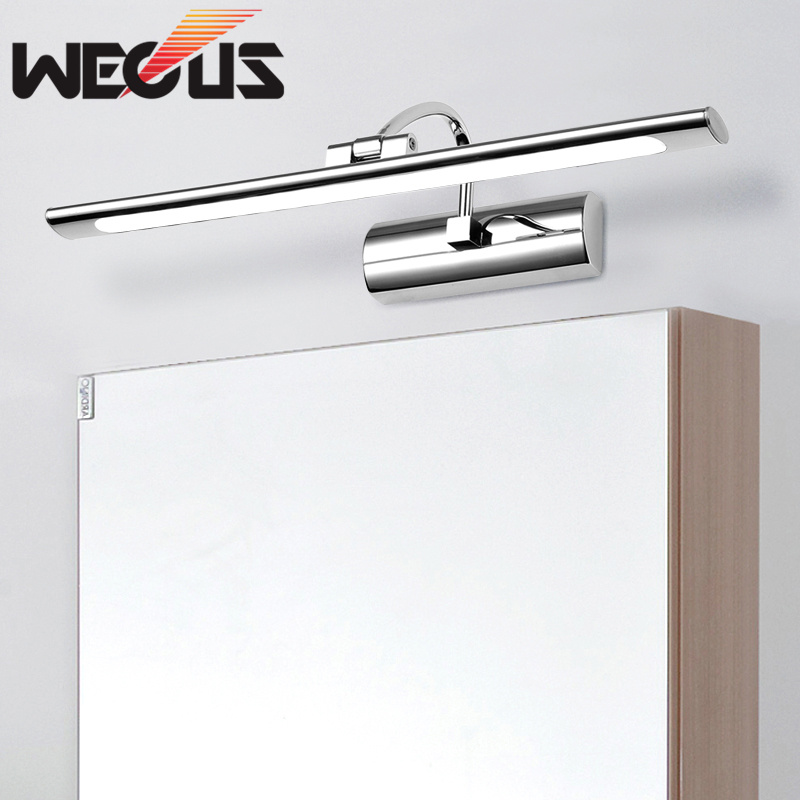 Stylish bathroom toilet led mirror wall light simple bedroom dresser mirror front lamp 43cm цена