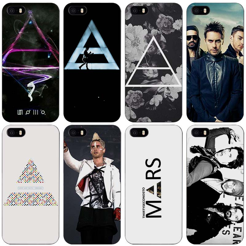 30 Second To Mars 30STM Black Plastic Case Cover Shell for iPhone Apple 4 4s 5 5s SE 5c 6 6s 7 Plus ...