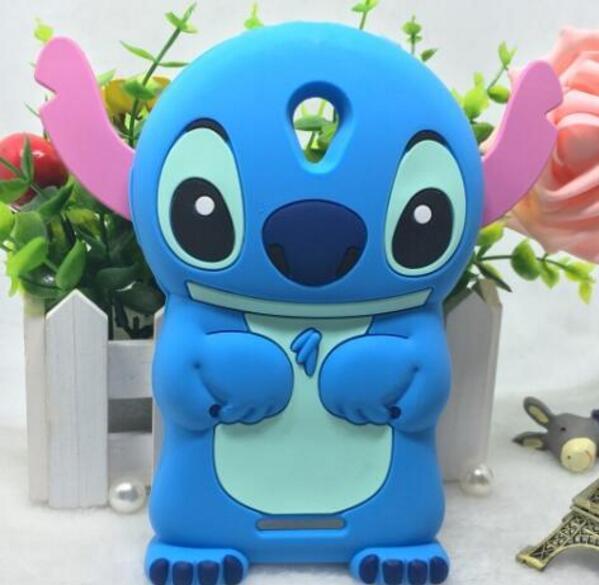 Lenovo a5000 case lindo stitch dibujos animados case contraportada del teléfono