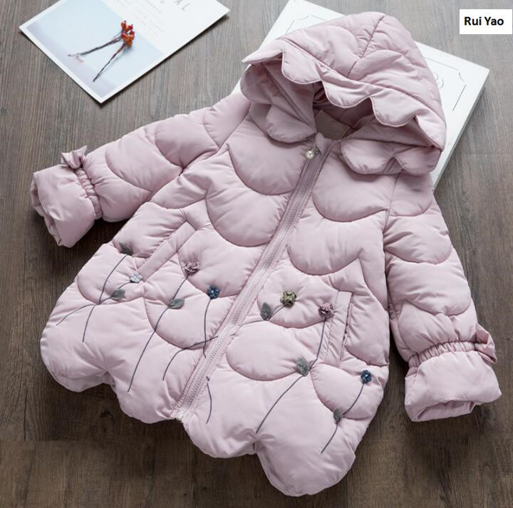 YP17312-1020-12116 Winter Jackets Baby Jacket Girls Winter Jackets Worm Fashion Flower Girl Outerwear Lolita Girls Parka юбка other flower lolita b113