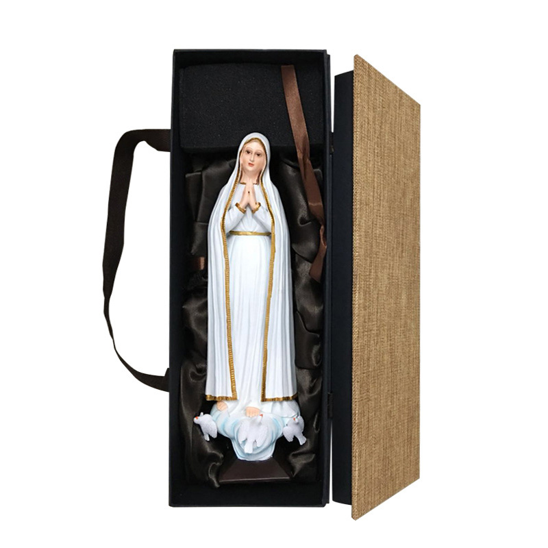 Statues Of The Virgin Mary Holy Mother Of God Resin Crafts Ornaments Home Decoration Bedroom Living Room Resin Artwork In Box