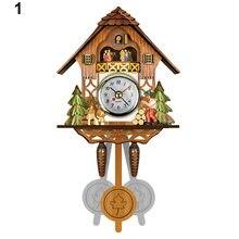 Antique Wooden Cuckoo Wall Clock Bird Time Bell Swing Alarm Watch Home Art Decor Dropshipping(China)