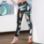 La moda de Nueva Raya Mesh Patchwork Mujer Pantalones Deportivos Leggings Impresión Del Verano de Secado Rápido de la Aptitud Fuerza Ejercicio Pantalones Para Las Mujeres
