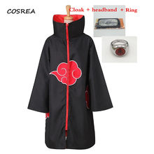 Anime Figure Naruto Cosplay Costumes Cloak Halloween Carnival Akatsuki Uchiha Itachi Clothes Men Trench Adult Cape Mantle(China)