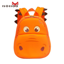 NOHOO Backpack Baby Bag Waterproof School Bags for Teenagers Girls Cartoon Hippo Children School Backpack for Kids Boys
