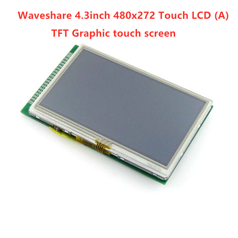 Waveshare 4.3inch 480x272 Touch LCD (A) 40pin cable LCM TFT Display Touch Screen Module Graphic LCD Display Module image