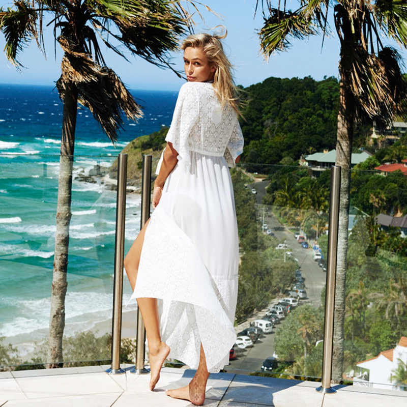 90136a266e43c ... New Beach Dress Women Pareo Cover Up Sexy Robe De Plage Cardigan  Bathing Suit Cover Ups ...
