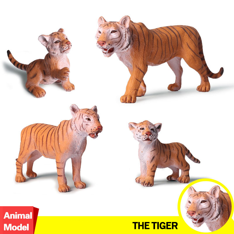 Doll-Figure Wildlife-Animal Model-Collectible S for Kid Children Gift Tiger Action--Toy