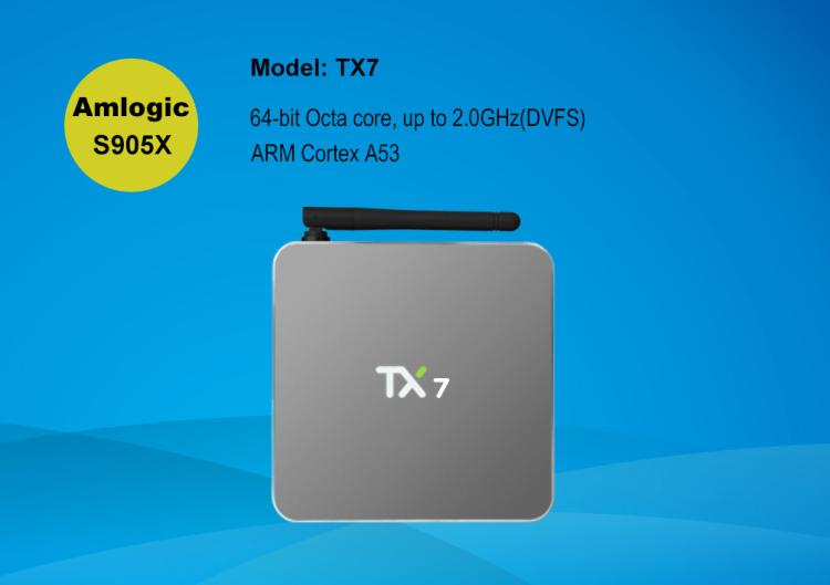 Tx7 s905x 2g32g WiFi 4K Android double Bluetooth set-top box box HD network player askent s 7 1 tx page 2