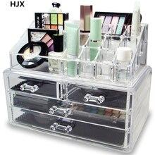 Acrylic Makeup Organizer Cosmetic Jewelry storage box Lipstick rack Eyeshadow Brushes Storage Drawer type Display Boxes