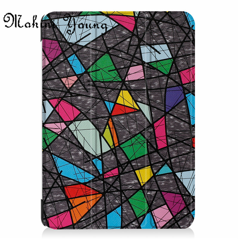(1pc)top quality Cases For New iPad 9.7 Inch 2017 Slim Smart tablet Case cover print pat ...