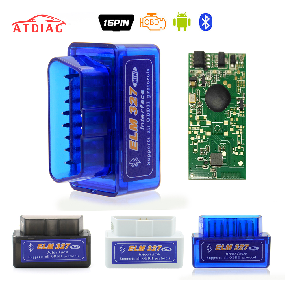 Mini ELM327 Bluetooth 2.0 Interface V2.1 OBD2 OBD 2 Auto Diagnostic-Tool ELM 327