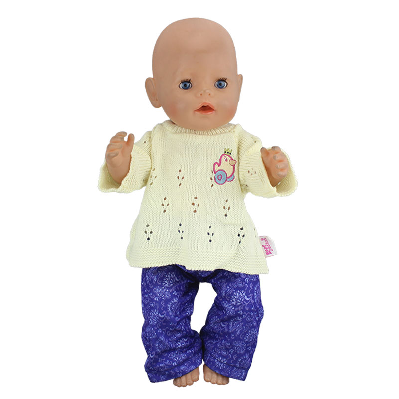 New 1set=sweater+jeans Doll Clothes  Wear fit 43cm Baby Born zapf,  Children best  Birthday Gift