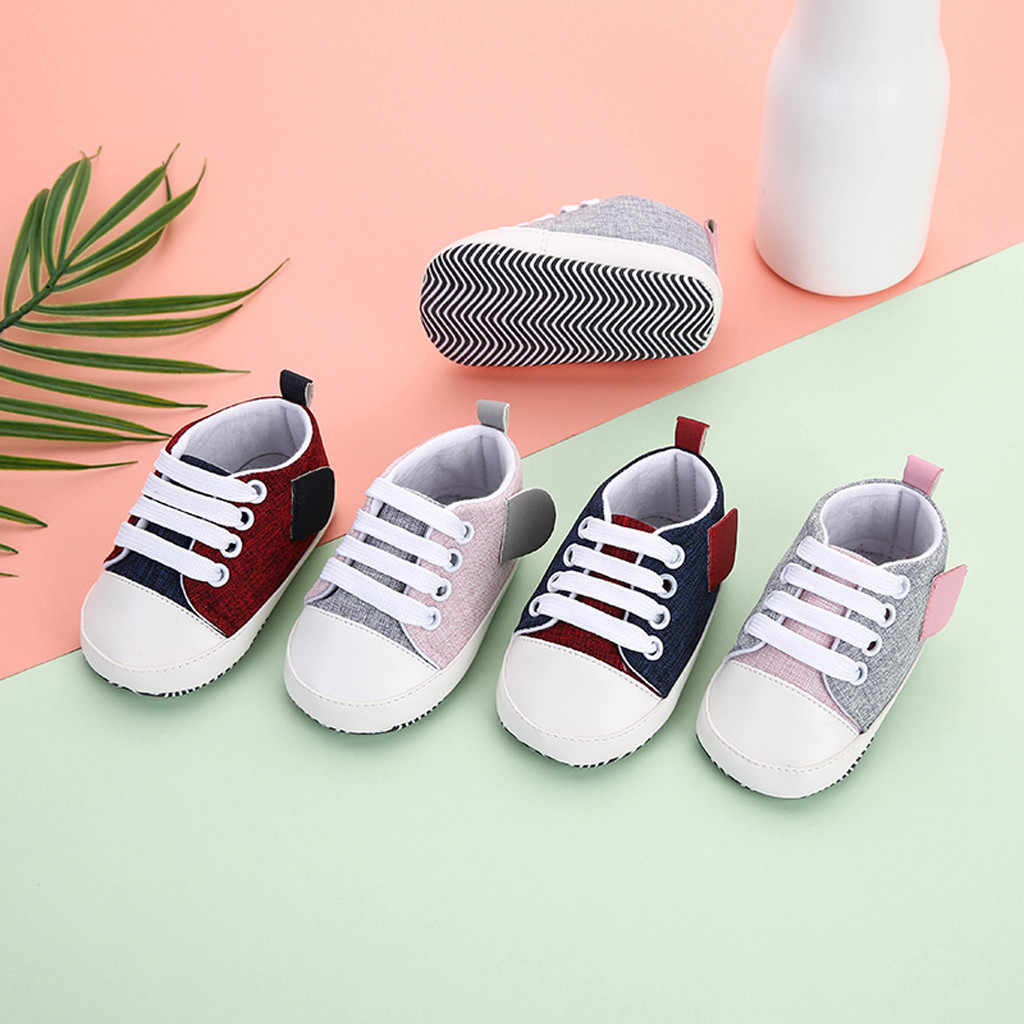 New Canvas Baby Sneaker Sport Shoes For Girls Boys Newborns Shoes Baby Walker Infant Toddler Soft Sole Anti-slip First Walkers