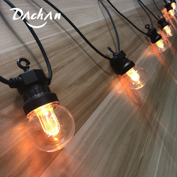 led commercial string 2w backyard outdoor street lighting lights holiday bulb grade string edison garden 10pcs with patio 10m ALL NEW! 13M Led G50 Festoon Globe PMMA Bulb Outdoor String Waterproof Led Warm Ball String Garland Party Wedding Backyard Patio
