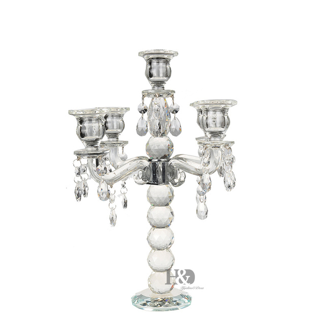 2016 K9 Crystal 5 Arm Crystal Candle Holders centerpieces