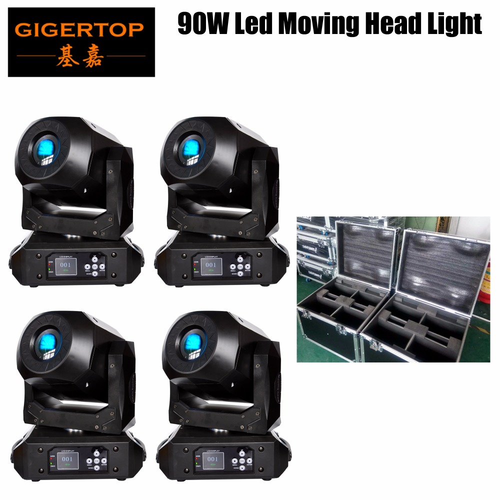 TIPTOP 90W Moving Head Stage Light Colorful LED Strobe Light Bar Sound Activated,Master slave, Auto Running for Bars 4in1 Case