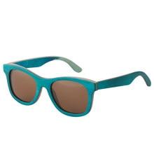417d0a90682efc Nouveau mode Rétro Bois Femmes lunettes de soleil hommes haute qualité  Brand Design Paon bleu lunettes de soleil Polarisées Plag.