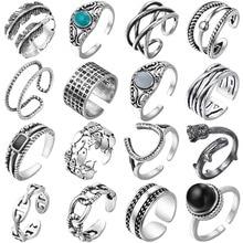 Todorova Vintage antiguo anillo ajustable de pluma Steampunk Midi dedo nudillo anillos mujeres hombres Bohemia joyería de fiesta