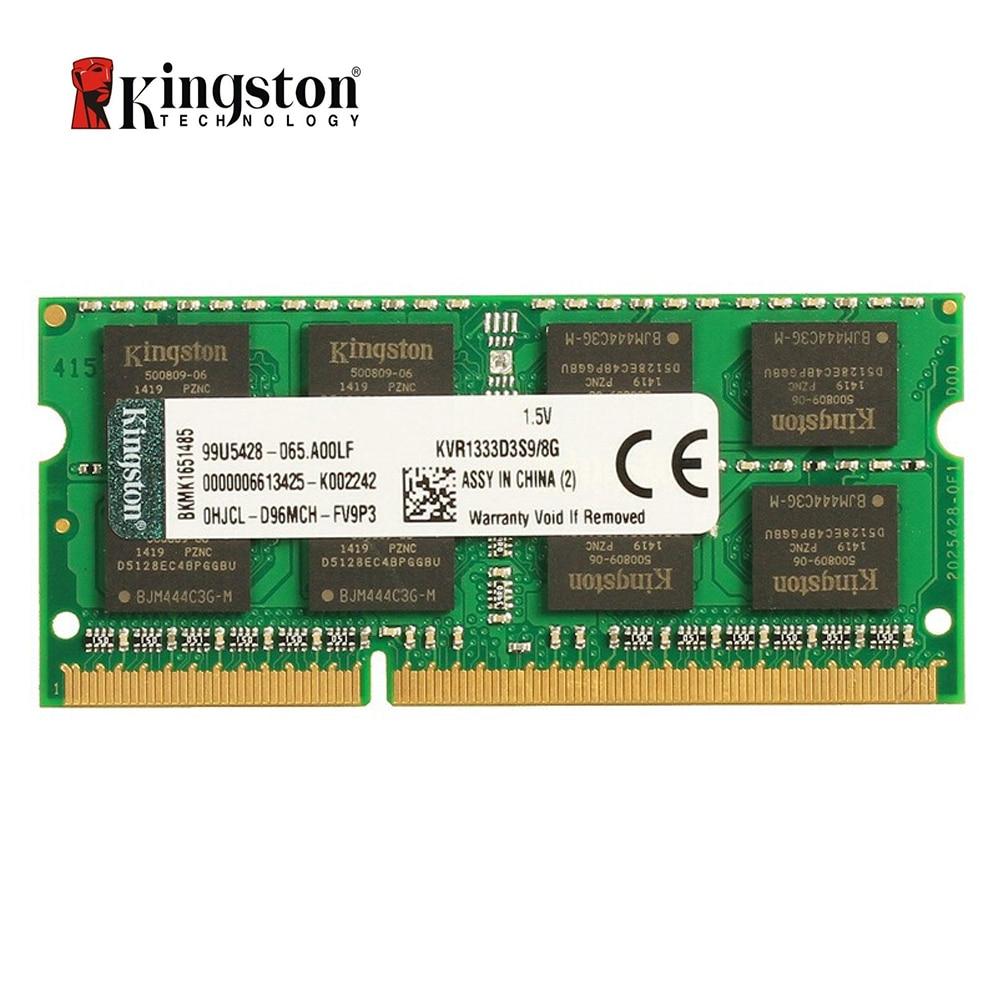 Kingston DDR3 RAM 8 GB ordinateur portable ram 8 GB mémoire ddr3 1333 Mhz KVR1333D9S9/8G CL9 1.5 V PC3-10600 204pin ordinateur portable SODIMM RAM
