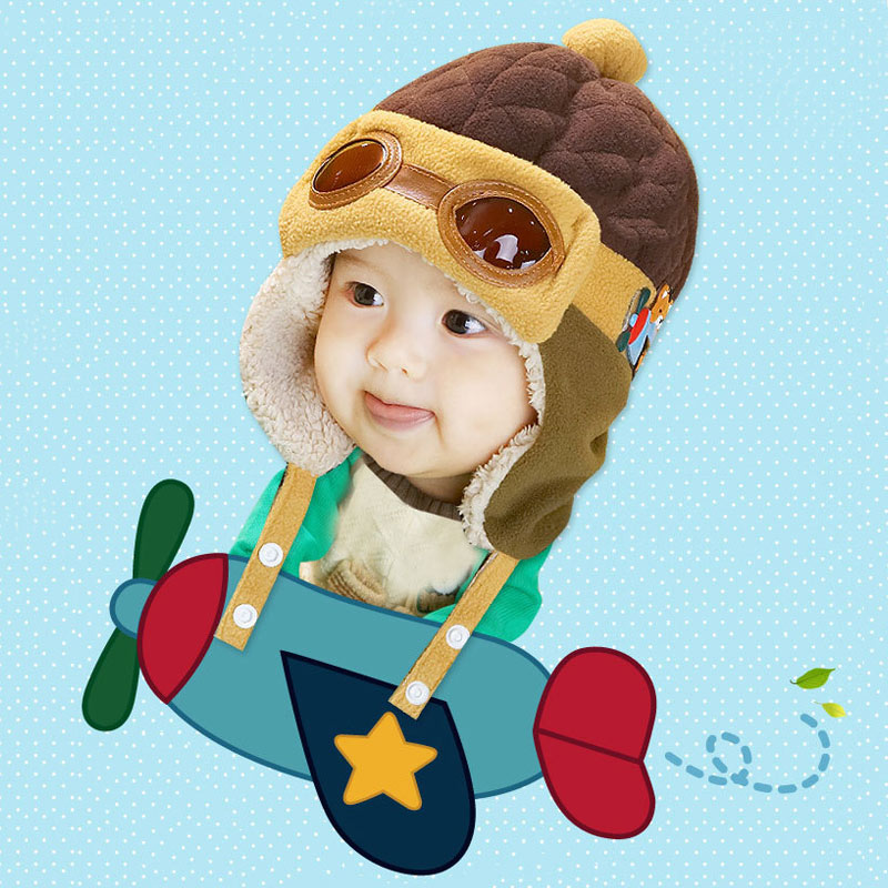 1-4 Anni Bb Ragazzi Delle Ragazze Cappelli Invernali E Con Pelliccia Per Bambini Pilota Di Inverno Protezione Calda Di Spessore Beanie Streetwear Casquette Czapka Zimowa Dziecko