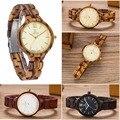 De Madera Natural moda mujeres Del Reloj de Lujo Relojes de Cuarzo Reloj de Vestido de Las Mujeres Relojes Señoras Reloj de pulsera de Madera de Las Mujeres Horas Montre