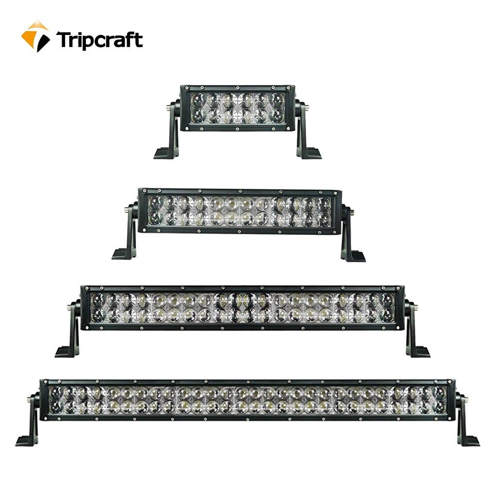 Tripcraft светодиодный свет бар 36 Вт 72 Вт 120 Вт 180 Вт 240 Вт 300 Вт 4D вождение автомобиля лампа Offroad 4x4 грузовик Наводнение Combo сфокусированного луча пр... ...