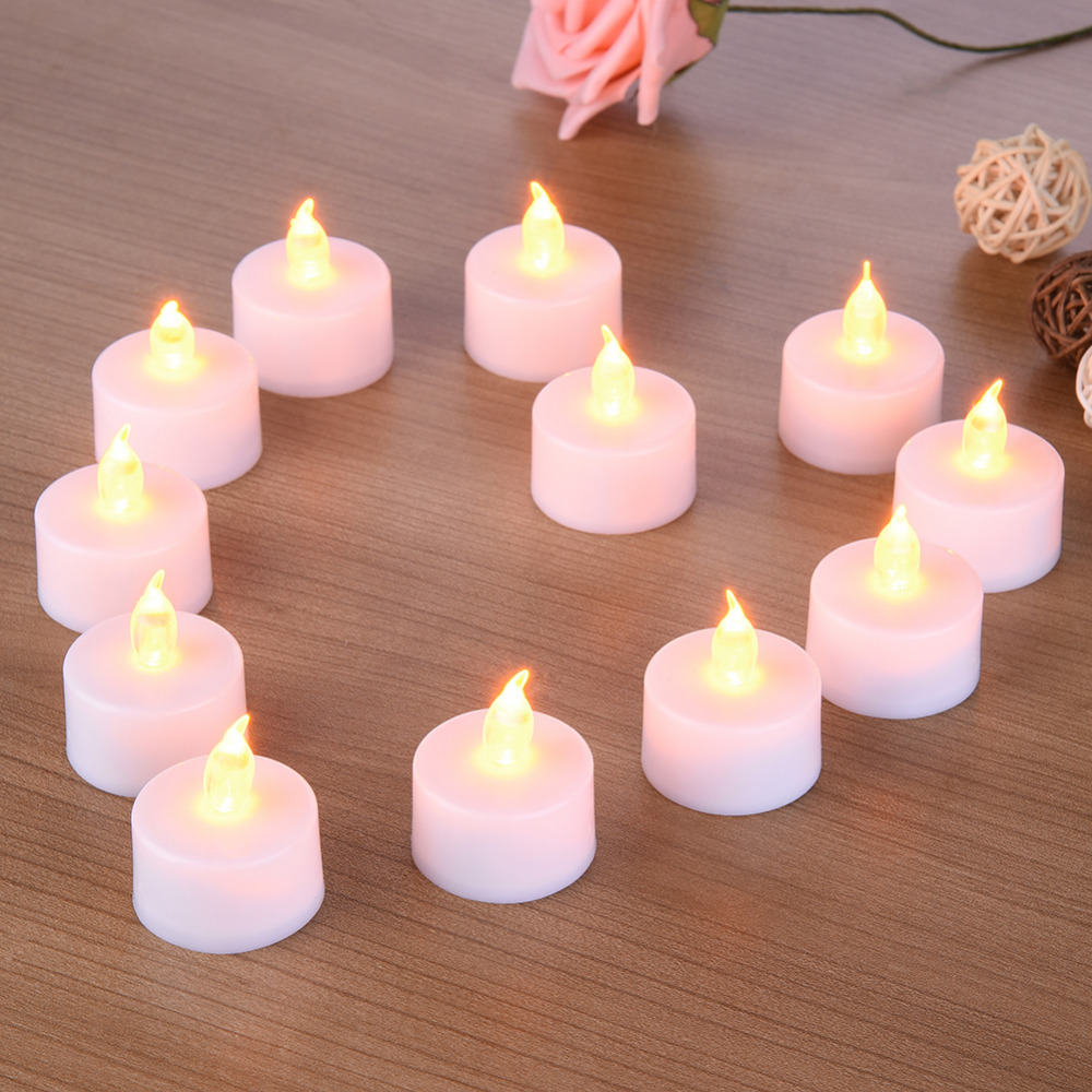 Dedicated 6/12pcs Light Flameless Led Tealight Tea Candles Wedding Light Candles & Holders