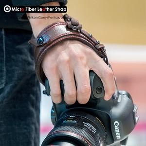 Image 5 - תמונה מצלמה מיקרו סיבי עור רצועת יד DSLR יד חגורת מחזיק עמיד הלם רצועות עבור Canon Nikon Sony Pentax לייקה