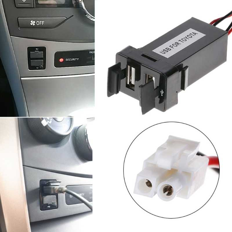 Free delivery High Quality 1 Pc New DC 12V 2.1A Dual USB 2 Port Auto Car Charger Socket Lighter Adapter For Toyota Corolla