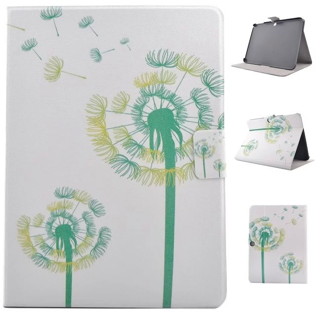 Cover For Samsung Galaxy Tab 3 10.1 P5200 P5210 Smart stand leather Case tablet pc+ film protector+Good packaged