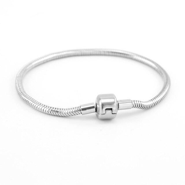 a694fb9dab0f € 3.61 |Simsimi serpiente pulsera para mujer pulseras de acero inoxidable  encanto de alta calidad Cuentas encajar original pulsera mujeres joyas DIY  ...