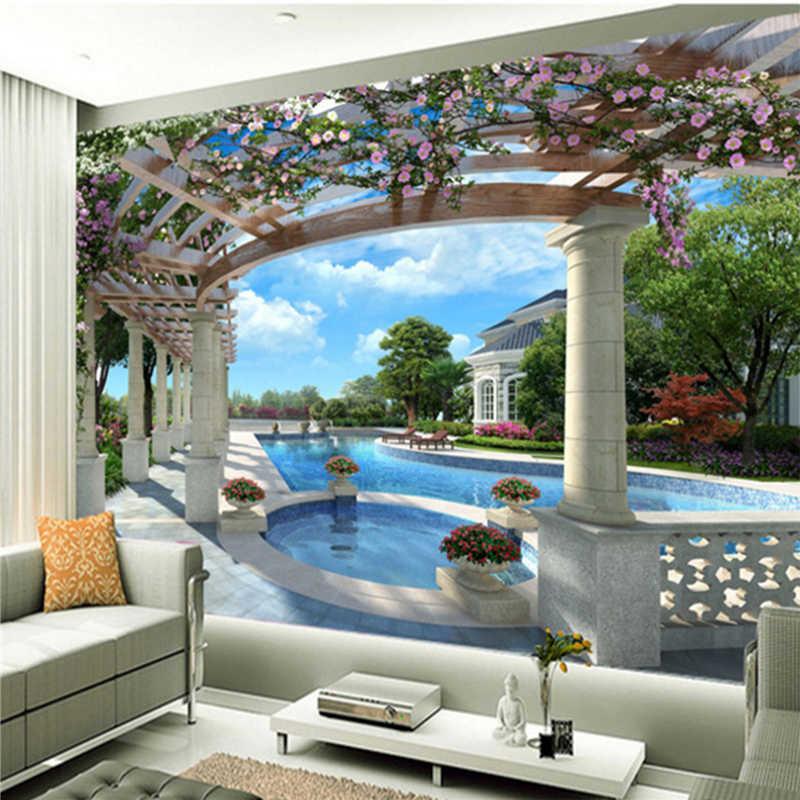Фото обои флэш серебряная ткань 3D стереоскопический спальня гостиная ТВ фон стены расширение пространства большие Настенные обои