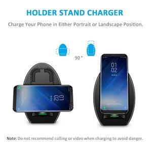 Image 3 - CHOETECH Drahtlose Ladegerät für Samsung Galaxy S8 Schnelle Qi Drahtlose Ladegerät mit Lüfter QI Drahtlose Ladestation für iPhone