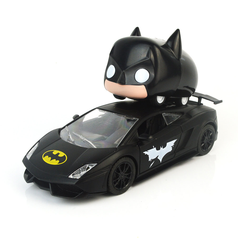 1pcs/set 45 Degree Walk Alloy Stunt Car Cute Batman Car / Batman Poison Alloy Toys Car Pull Back Car Kids Hot Toys Child Gifts