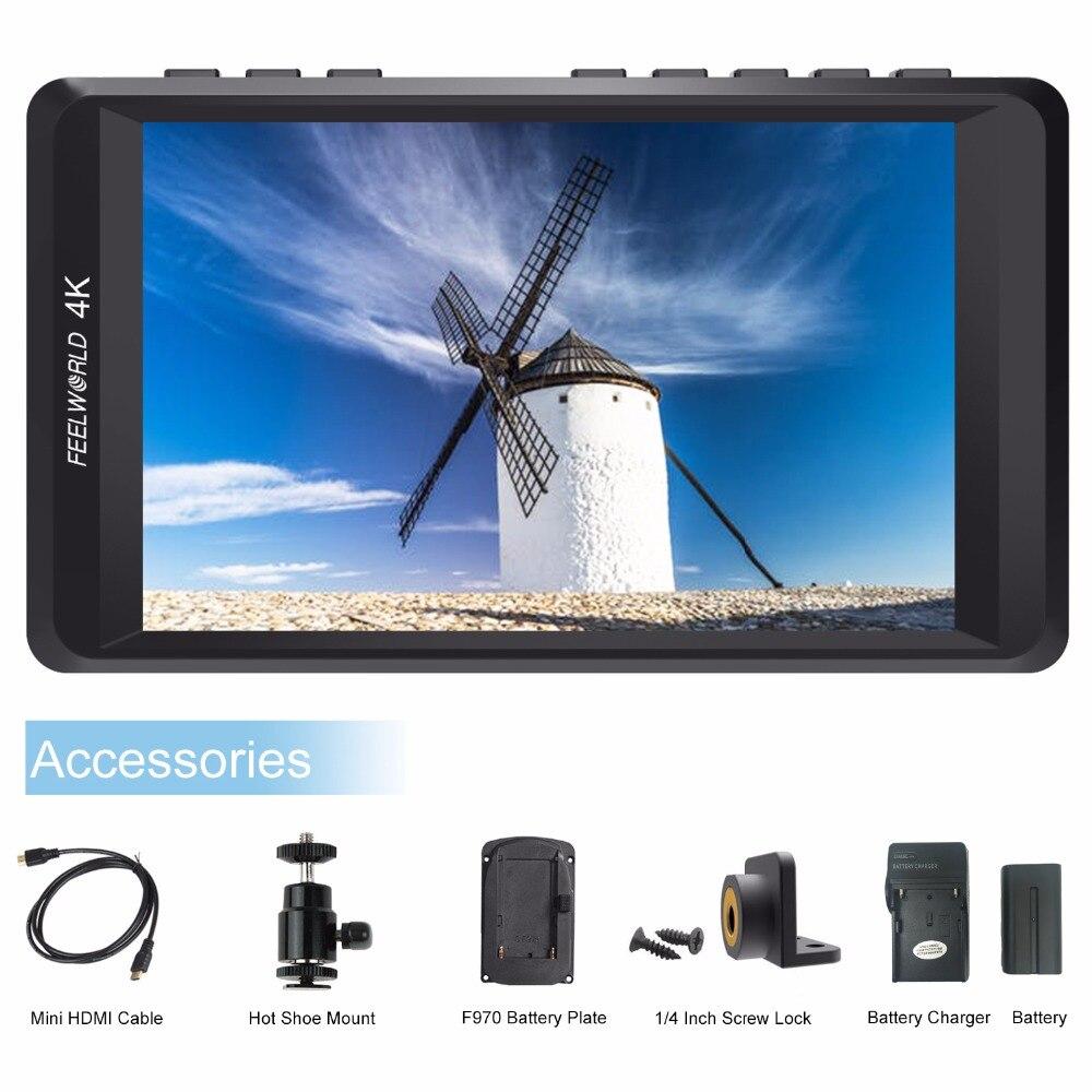 Feelworld F450 4.5 pouces IPS 1280x800 4 K HDMI caméra moniteur de terrain pour Canon Nikon Sony DSLR caméra vidéo