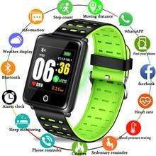LIGE 2019 Smart Wristband Sport Bracelet LED Screen Blood Pressure Heart Rate Monitor Pedometer Fitness Waterproof Watch + Box