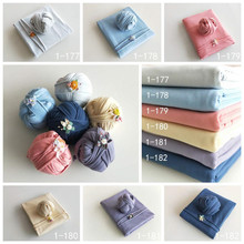 whole set Bean bag  photography blanke+ Wrapped in cloth +headwear infantile newborn baby prop