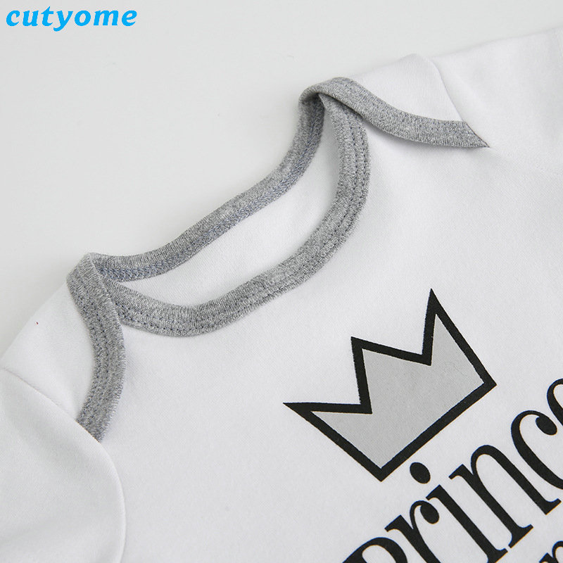 Cutyome Summer 2017 Baby Boys Rompers Prince Charming Letter Printed Infant Jumpsuits Clothes Cotton Boy Overalls 4-18M  (21)